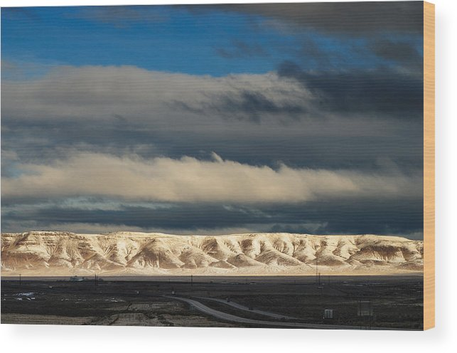 Landscape Wood Print featuring the photograph Snowcaped Peaks by Werner Rolli