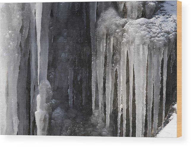 Ice Wood Print featuring the photograph So Cold by Luis Lorenzo