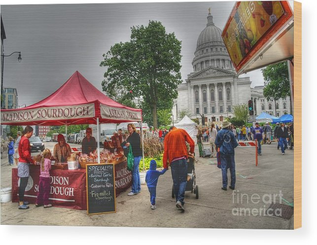Madison Wisconsin Wood Print featuring the photograph Sourdough by David Bearden