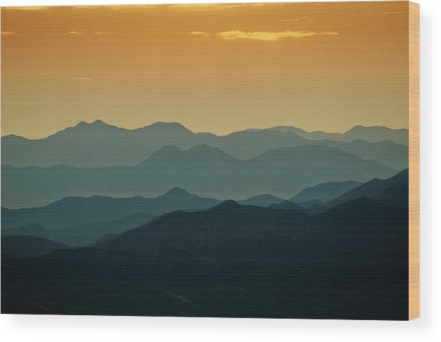 Nature Wood Print featuring the photograph Southeast From The Catalina Mts., Arizona by Dave Wilson