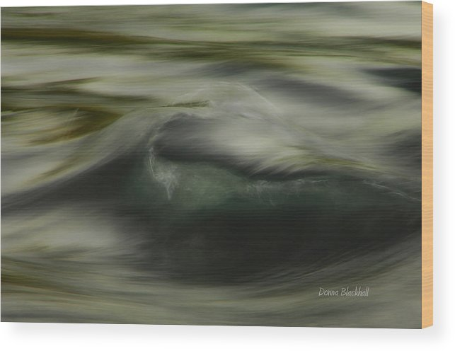 Water Wood Print featuring the photograph Speaking Sofly by Donna Blackhall