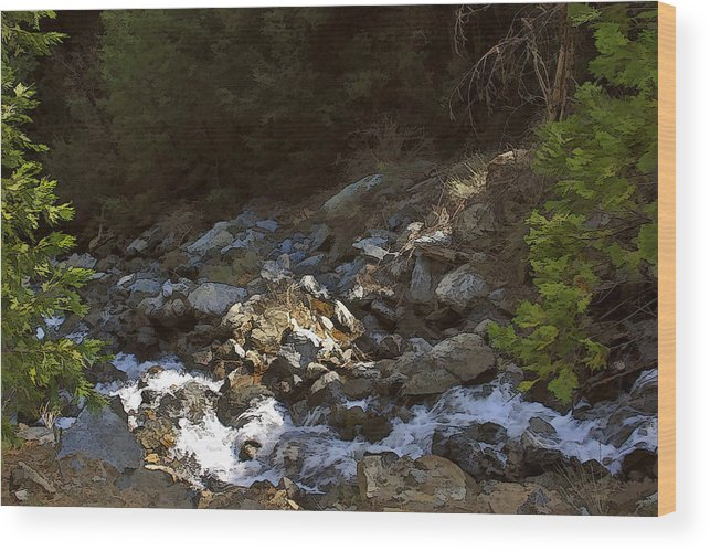 California Landscape Art Wood Print featuring the painting Spring Creek by Larry Darnell