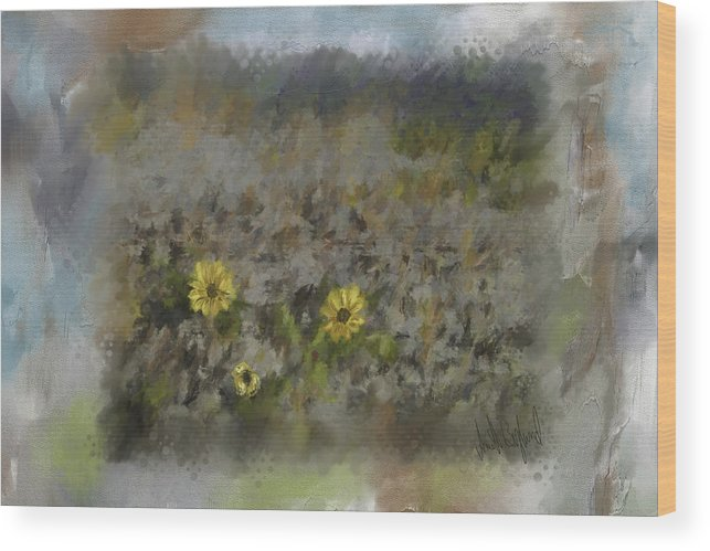 Flowers Wood Print featuring the painting Spring Fever by Annette Berglund