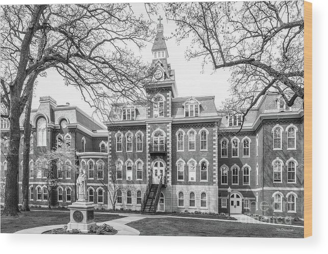 Ambrose Hall Wood Print featuring the photograph St. Ambrose University Ambrose Hall by University Icons