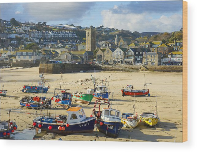 St Ives Wood Print featuring the photograph St Ives by Elisa Locci