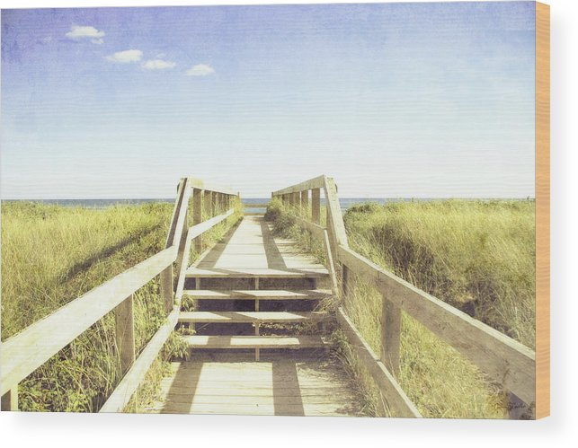 Beach Wood Print featuring the photograph Stairway To Heaven by Nancy Coelho