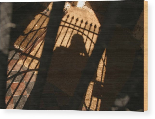 Jez C Self Wood Print featuring the photograph Standing In The Shadows Baby by Jez C Self