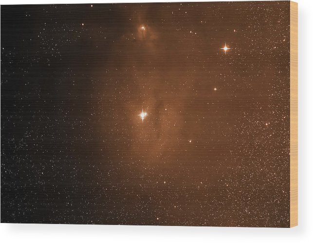 Space Wood Print featuring the photograph Starfield Ic4604 by Jim DeLillo