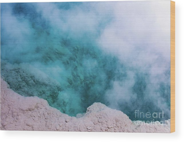 Yellowstone National Park Wood Print featuring the photograph Steam Hole by Bob Phillips