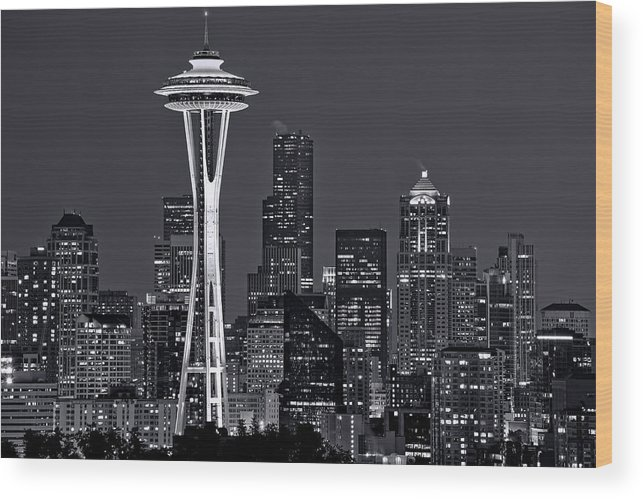 Seattle Wood Print featuring the photograph Still Of The Night by Dan Mihai