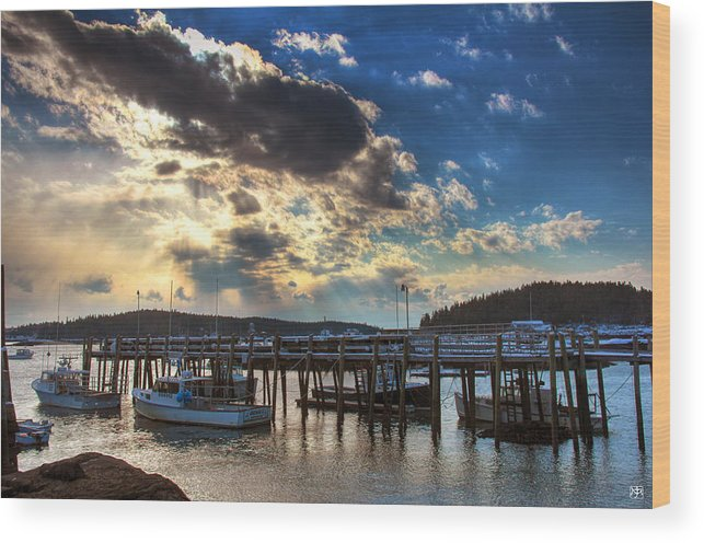 Lobster Wood Print featuring the photograph Stonington Lobster Boats by John Meader