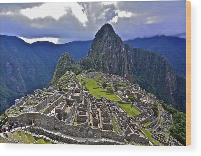 Machu Picchu Wood Print featuring the photograph Storm Inbound To Machu Picchu by Don Mercer