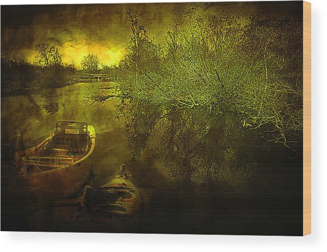 Storm Wood Print featuring the photograph Storm On Lake Washington by Jeff Burgess