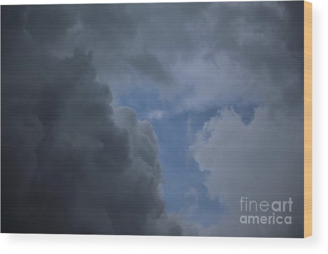 Clouds Wood Print featuring the photograph Stormy Day by Ellen Flayderman