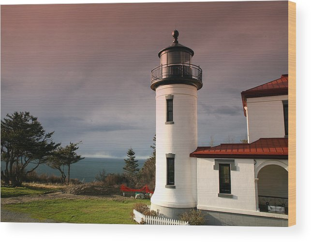 Skies Wood Print featuring the photograph Stormy Skies by Mary Gaines