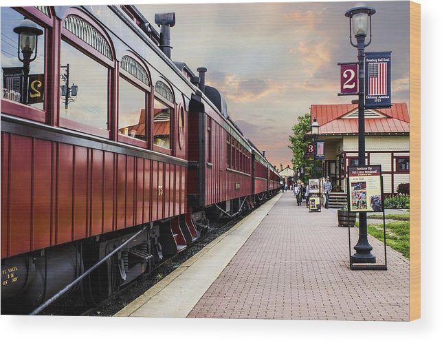 Strasburg Wood Print featuring the photograph Strasburg Railroad by Tammy Chesney