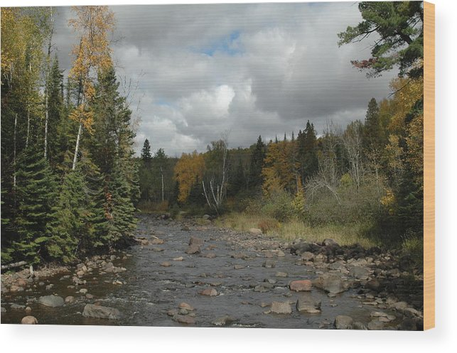 Nature Wood Print featuring the photograph Stream At Tettegouche State Park by Kathy Schumann