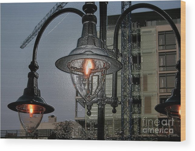 Street Lamp Wood Print featuring the photograph Street Lamp by Yavor Kanchev