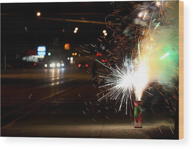 Travel Wood Print featuring the photograph Street Lights by Nicholas Miller