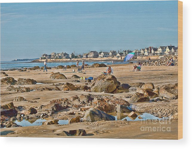 Beach.low Tide Wood Print featuring the photograph Summer Afternoon by Edward Sobuta