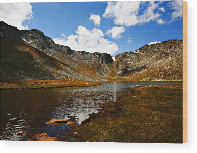 Travel Wood Print featuring the photograph Summit Lake Colorado by Marilyn Hunt