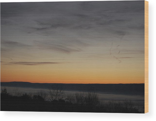 Sunrise Wood Print featuring the photograph Sun Rise Over Nippenose Valley by Richard Botts