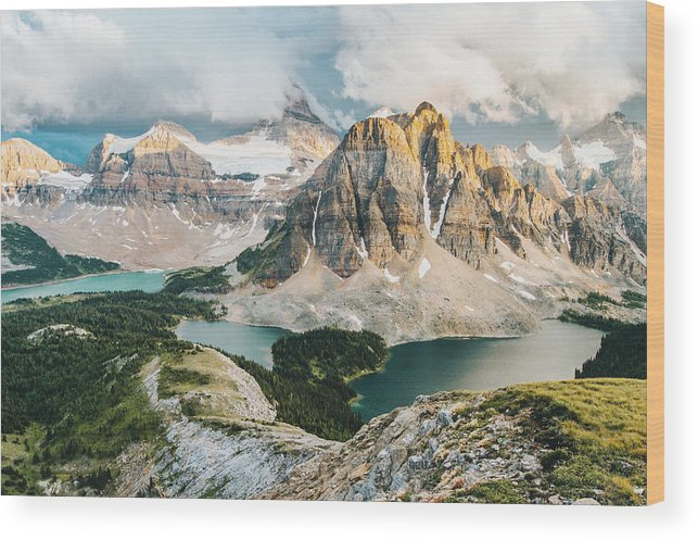 Peak Wood Print featuring the photograph Sunburst Peak by Victor Aerden