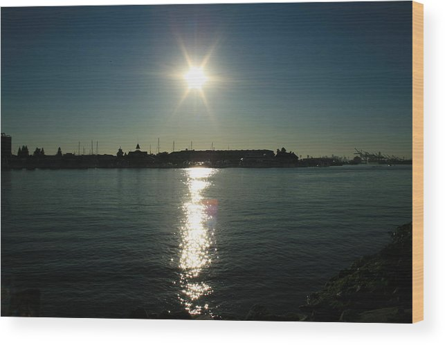 Sun Wood Print featuring the photograph Sunlight On The Water by Joshua Sunday