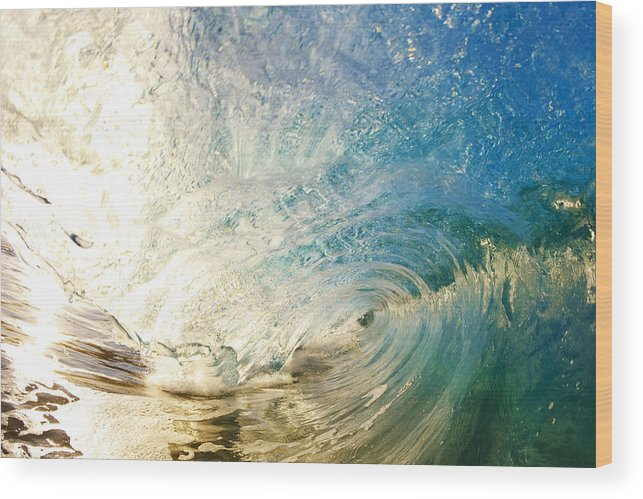 Amazing Wood Print featuring the photograph Sunrise And Wave by MakenaStockMedia