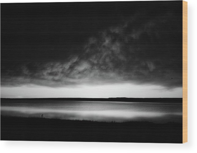 Long Exposure Wood Print featuring the photograph Sunrise In Black And White by Whispering Peaks Photography