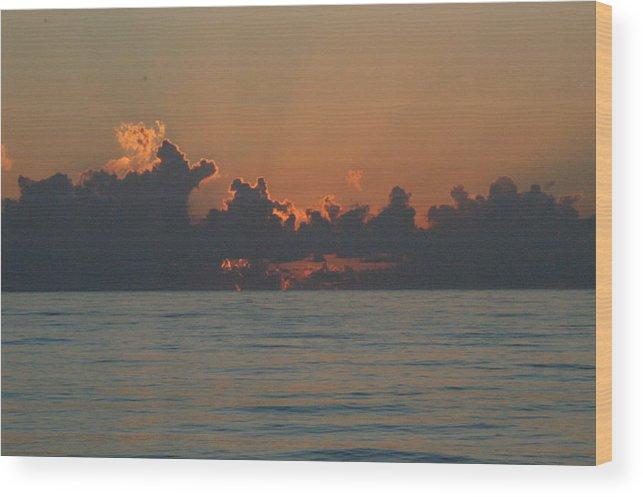 Sunrise Wood Print featuring the photograph Sunrise by Michael Vanatta