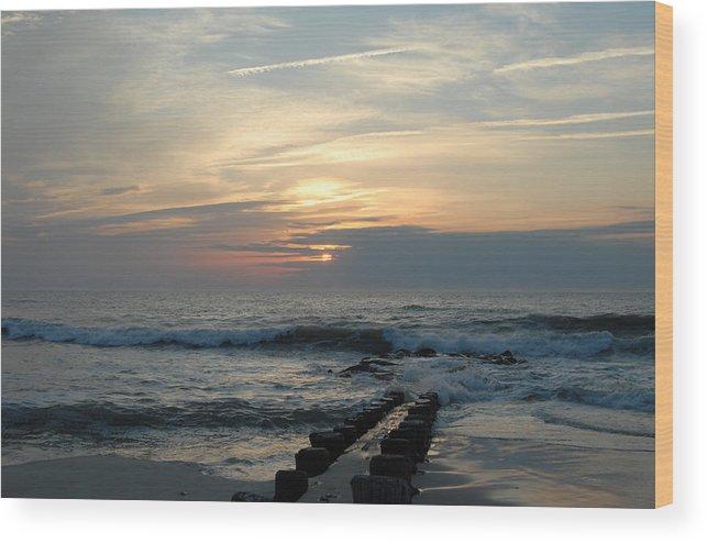 Ocean Sunrise Wood Print featuring the photograph Sunrise Ocean 50 by Joyce StJames