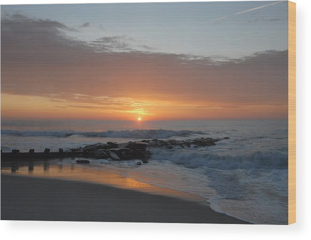 Ocean Sunrise Wood Print featuring the photograph Sunrise Ocean 76 by Joyce StJames