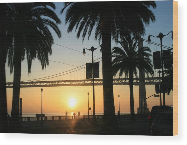 Morning Wood Print featuring the photograph Sunrise On The Bay by Joshua Sunday