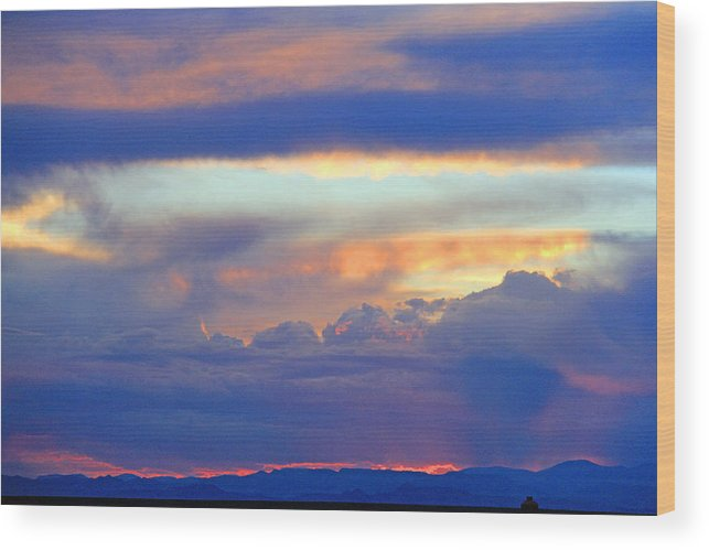 Colorado Sunset Wood Print featuring the photograph Sunset 8-19-15 by Robert W Dunlap
