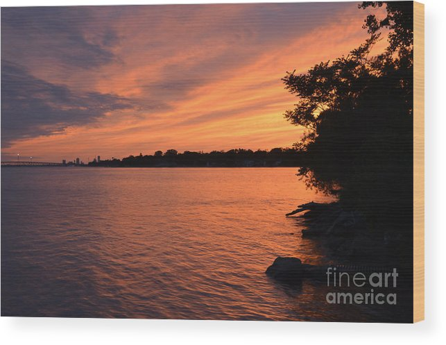 Sunset Wood Print featuring the photograph Sunset June 10, 2018 by Sheila Lee