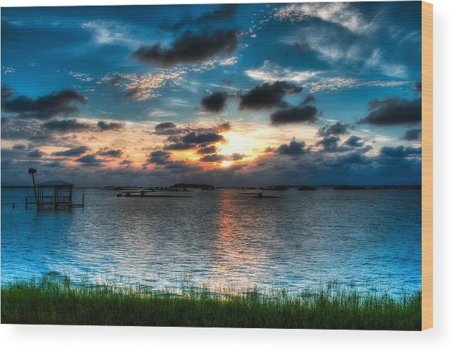 Lnadscape Wood Print featuring the photograph Sunset On Cedar Key by Rich Leighton