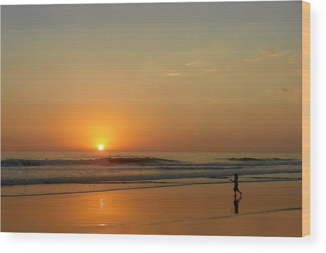 Pacific Wood Print featuring the photograph Sunset Over La Jolla Shores by Christine Till