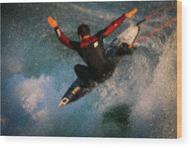 Wood Print featuring the photograph Surfing by Janine Moore