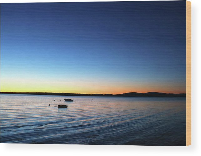 Surry Wood Print featuring the photograph Surry, Sunrise by Kevin Rabbitt