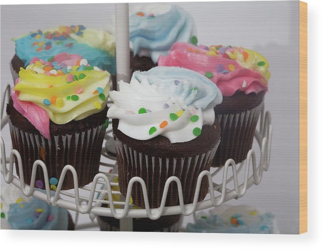 Chocolate Wood Print featuring the photograph Sweet Treats by Diane Macdonald