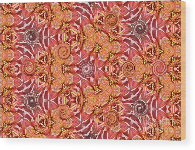 Home Decor Wood Print featuring the photograph Swirls Abstract by Debby Pueschel