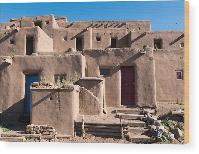 Pueblo Wood Print featuring the photograph Taos Pueblo by Rupert Chambers