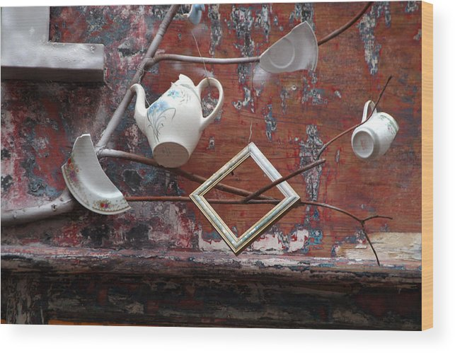 Jez C Self Wood Print featuring the photograph Tea Party by Jez C Self