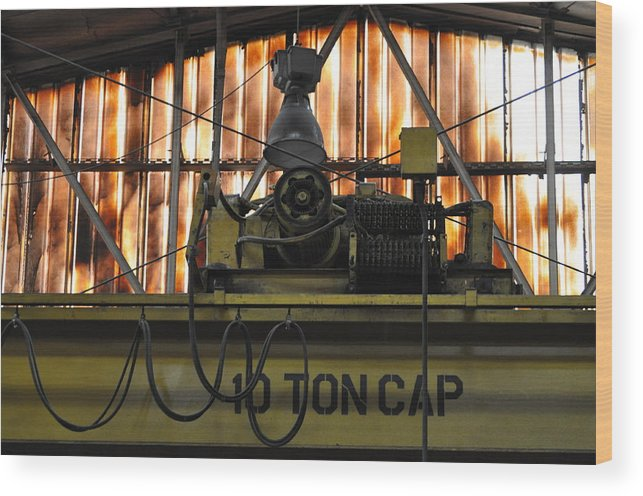 Machine Wood Print featuring the photograph Ten Ton Cap by Peter McIntosh
