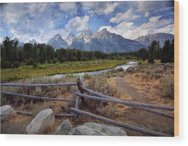 Grand Teton National Park Wood Print featuring the photograph Tetons Grande 3 by Marty Koch