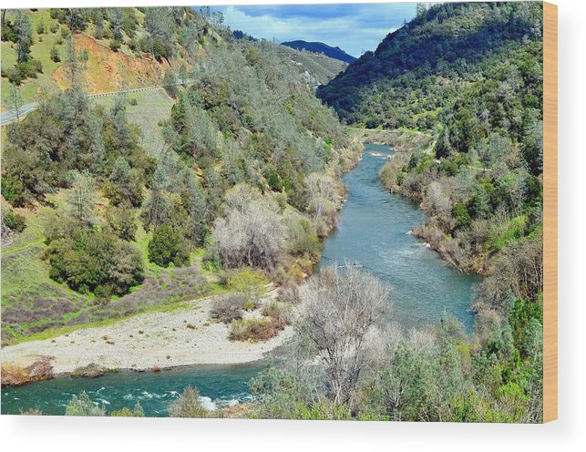 The American River Wood Print featuring the photograph The American River by Sagittarius Viking