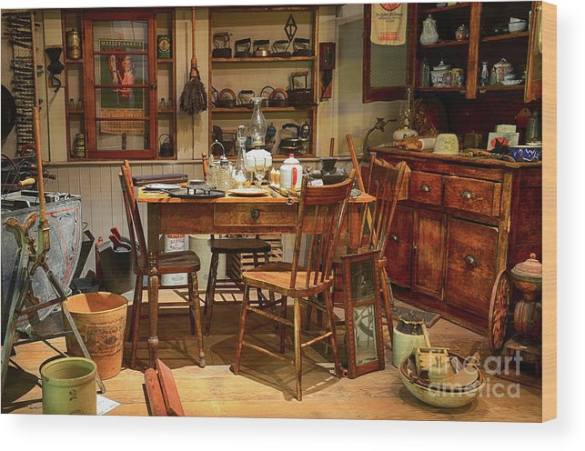 Kitchen Wood Print featuring the photograph The Art Of Aging 11 by Bob Christopher