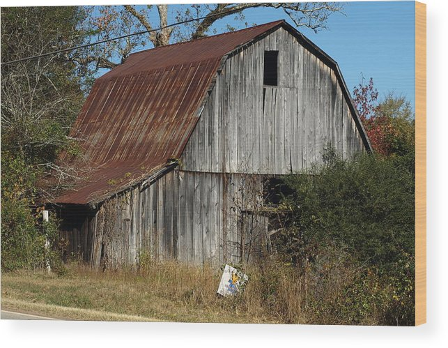 Barn Wood Print featuring the photograph The Barn By The Road by Mike Stanfield