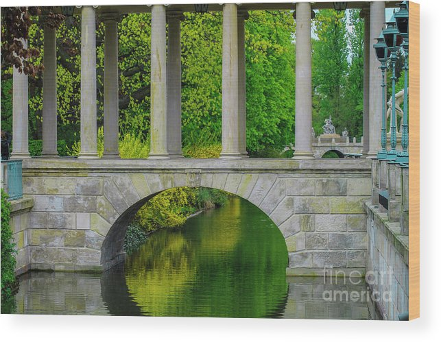 Pond Wood Print featuring the photograph The Bridge Across The Pond by Aleksei Musikhin
